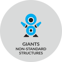 giants / Non-standard structures